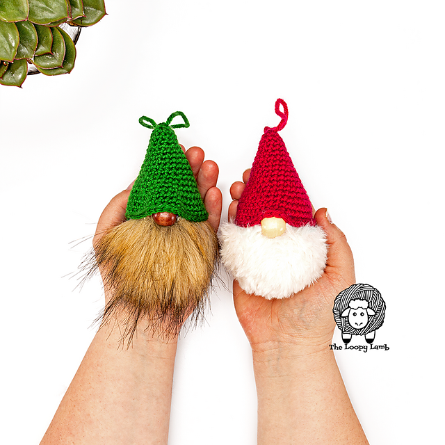 Super Quick And Easy Crochet Gnome Ornament Free Pattern