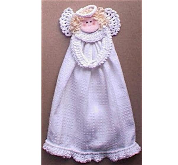 Kitchen Angel Towel Ring Free Crochet Pattern