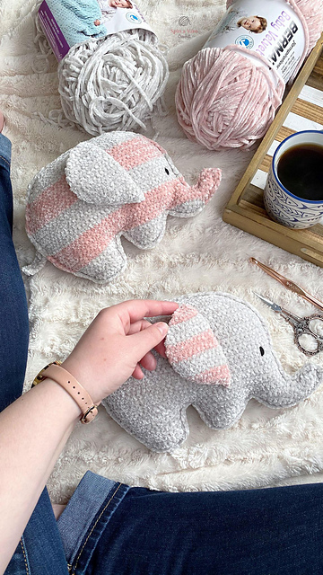 Crochet Elephant Toy Pattern- The Perfect Baby Shower Gift Or To A Little One
