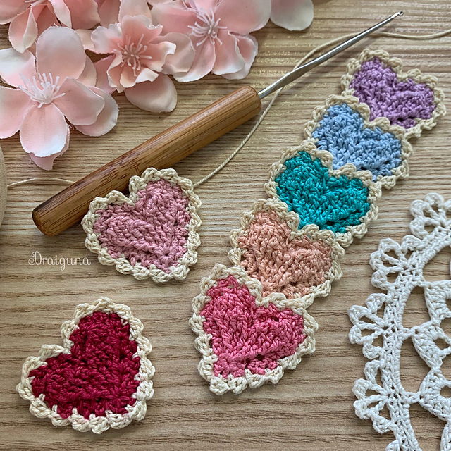 Cutest Crocheted Hearts Pattern for Valentine's Day