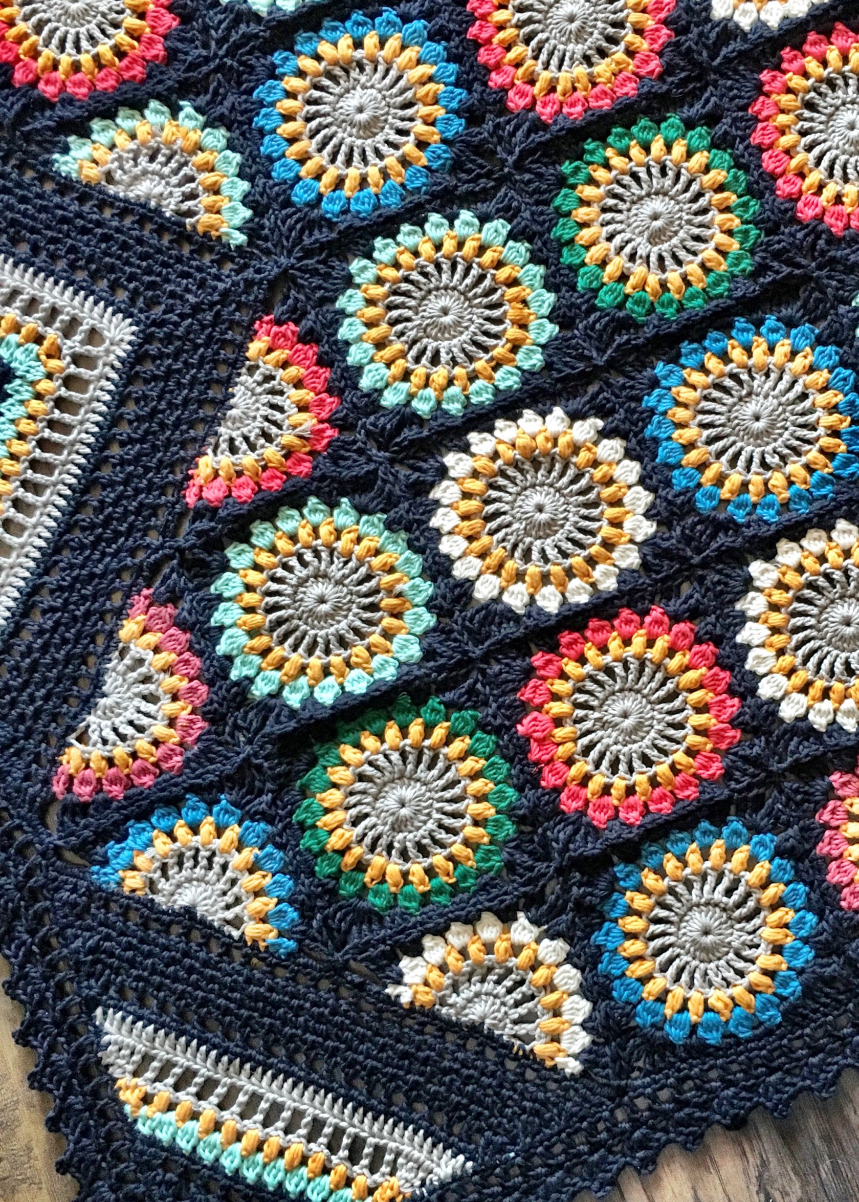 Flower Granny Square Blanket Pattern- Perfect For A Quick Baby Blanket