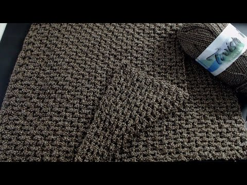 Easy Crochet Afghan For A Man- Masculine Crochet Patterns