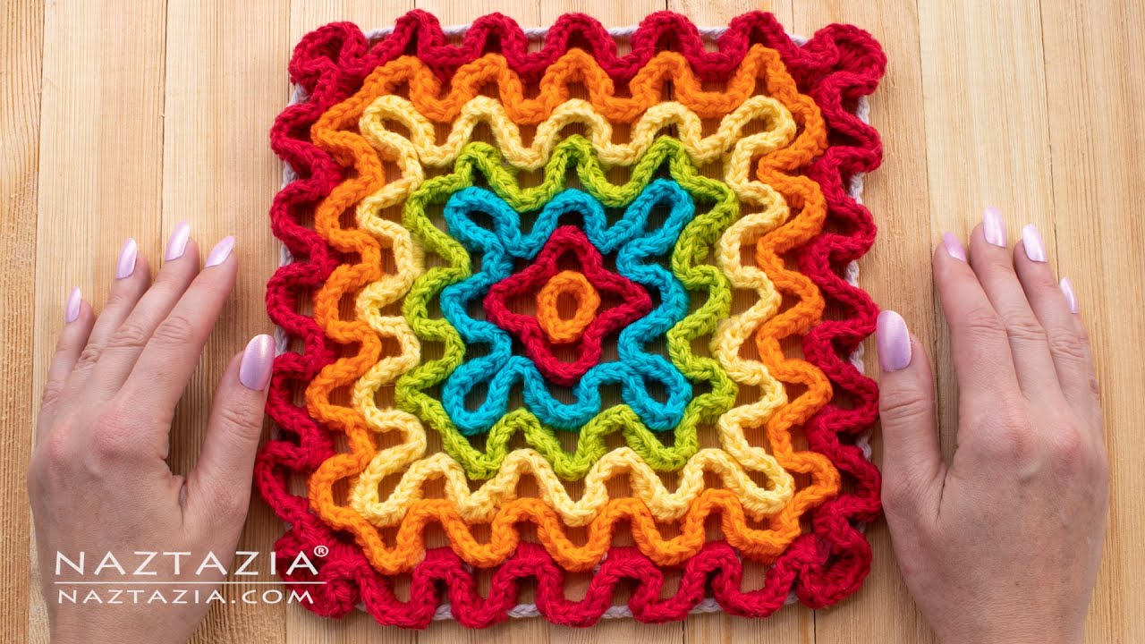Easy Wiggly Crochet Hot Pad- Free Wiggly Crochet Patterns
