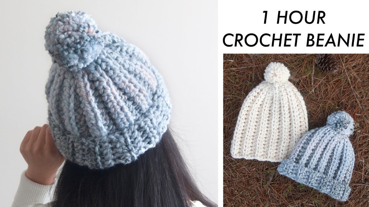 One Hour Chunky Crochet Beanie Pattern- Best Hats For Charity Patterns