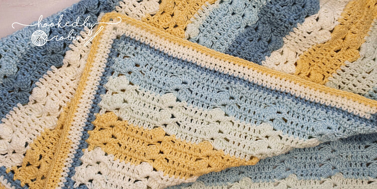Easy Shell Stitch Crochet Baby Blanket- One Row Repeat Crochet Patterns