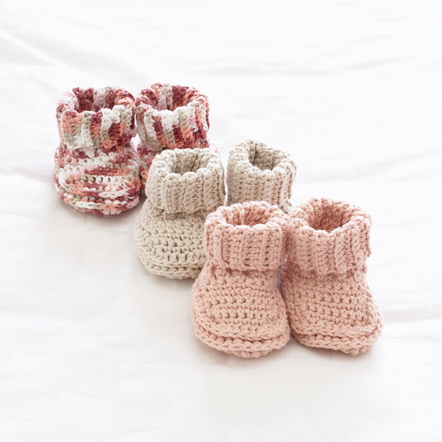 Quick And Easy Crochet Baby Booties Free Pattern