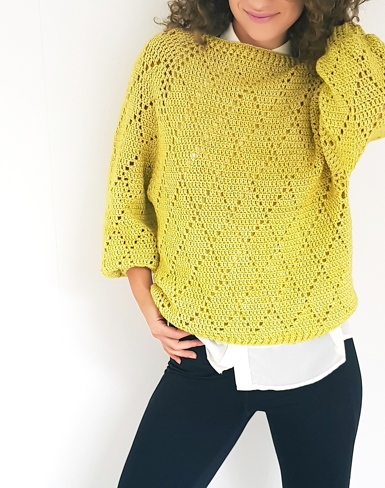 Crochet Pullover Pattern- So Easy , Soon You'll Know It Off By Heart