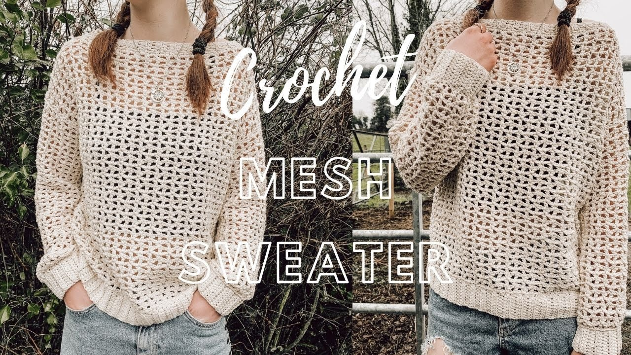 Easy Free Crochet Sweater Pattern For Spring- Free Crochet Top Patterns