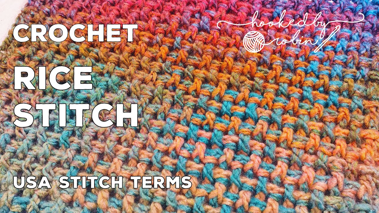 Learn A New Crochet Stitch: The Crochet Rice Stitch- One Row Repeat Crochet Patterns (Video Tutorial)