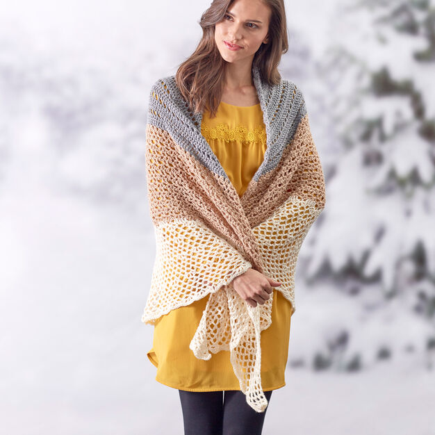 Sensational Wrap Around Shawl Crochet Pattern- Free Crochet Wrap Patterns