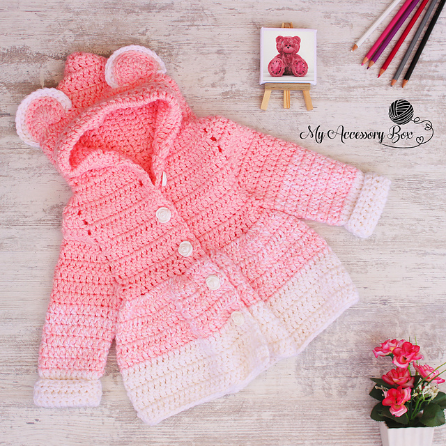 Cutest Baby And Toddler Crochet Cardigan Free Pattern