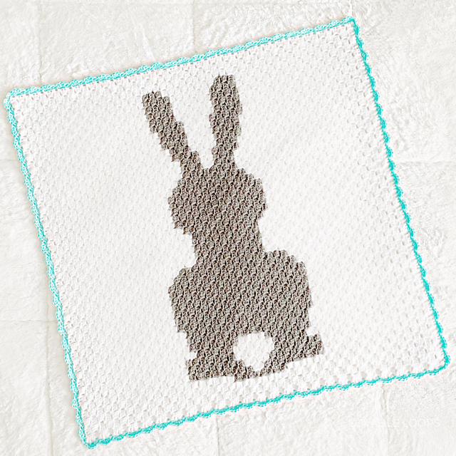 C2C Bunny Blanket Crochet Pattern- Easter Crochet Patterns