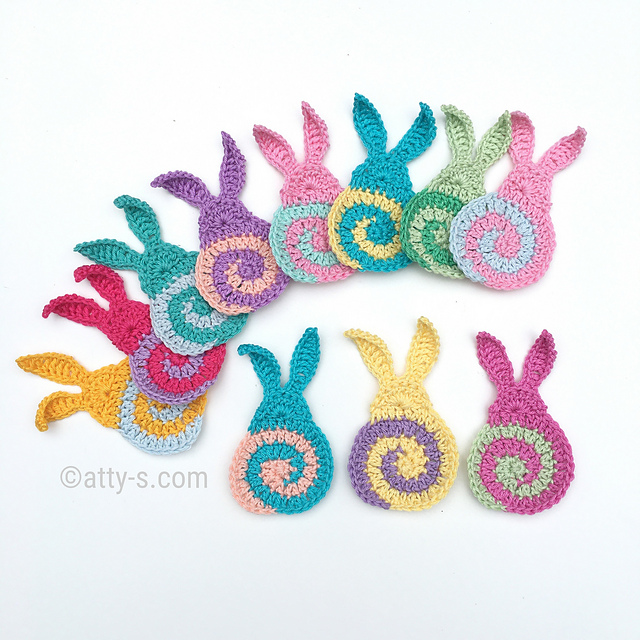 Swirly Free Bunny Crochet Pattern For Easter