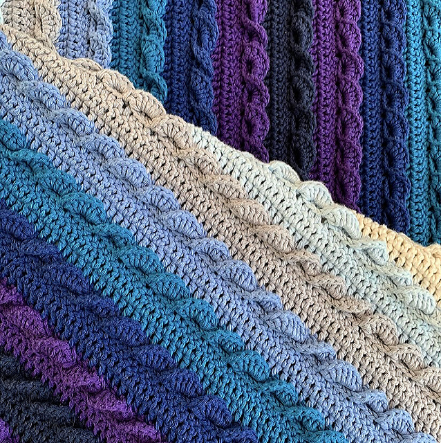 Gorgeous Crochet Afghan Pattern- Unique Crochet Stitches