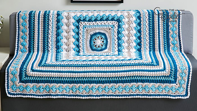Beautiful Crochet Afghan Pattern - Great For Your Leftover Yarn