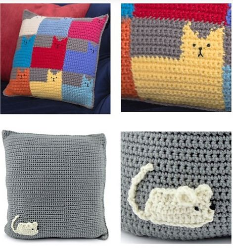 Free Crochet Pillow Patterns For cat And Dog Lovers