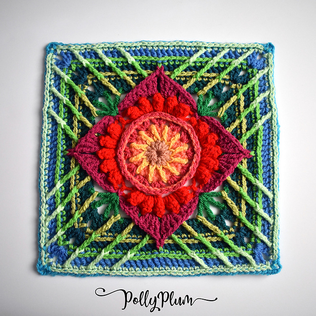 12 Inch Crochet Square Pattern You'll Love To Make