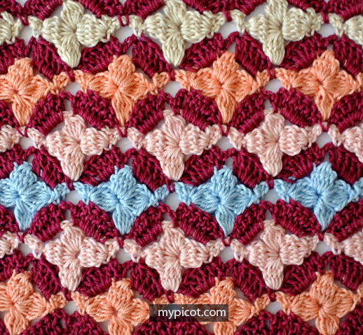 Crochet Flower Stitch Pattern