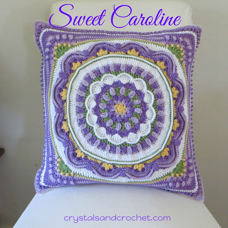 This Beautiful Granny Square Pillow Free Pattern Is Designed As A Stash Buster - Floral Dimension Afghan Square