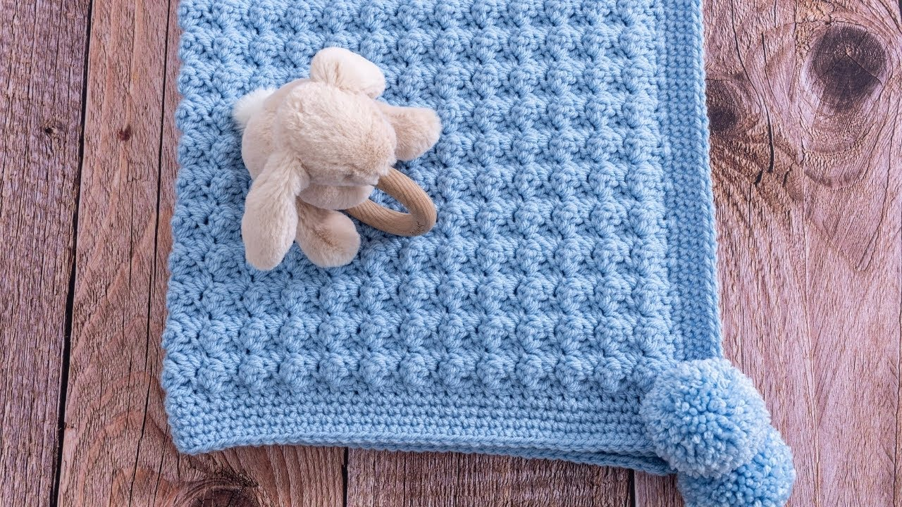 Fast And Easy Crochet Baby Blanket Free Pattern- One Row Repeat Crochet Patterns