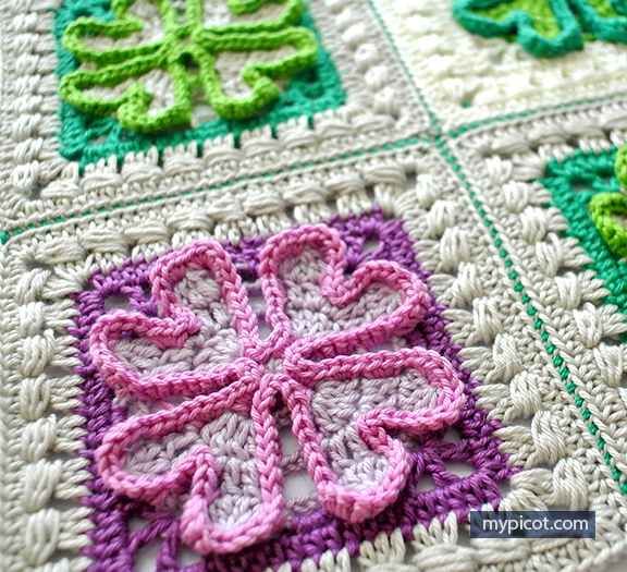 Easy Four Leaf Clover Granny Square To Add Some Luck And Comfort To Your Room
