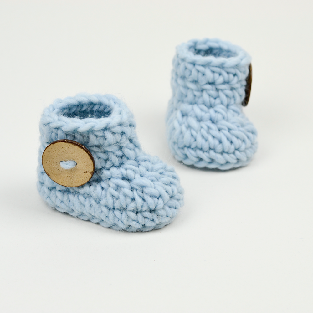 15 Minutes Or Less Crochet Baby Booties Pattern