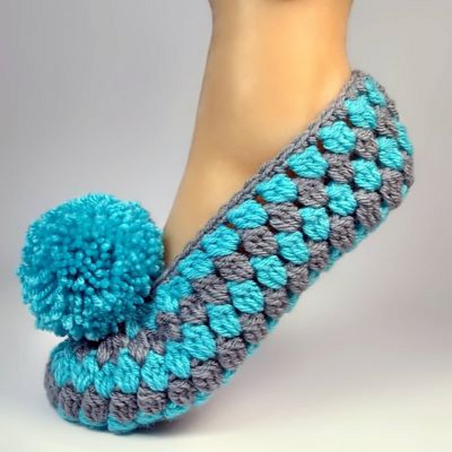 Fast And Easy Crochet Slippers Free Pattern (Sizes 6 Up to 11 Available)