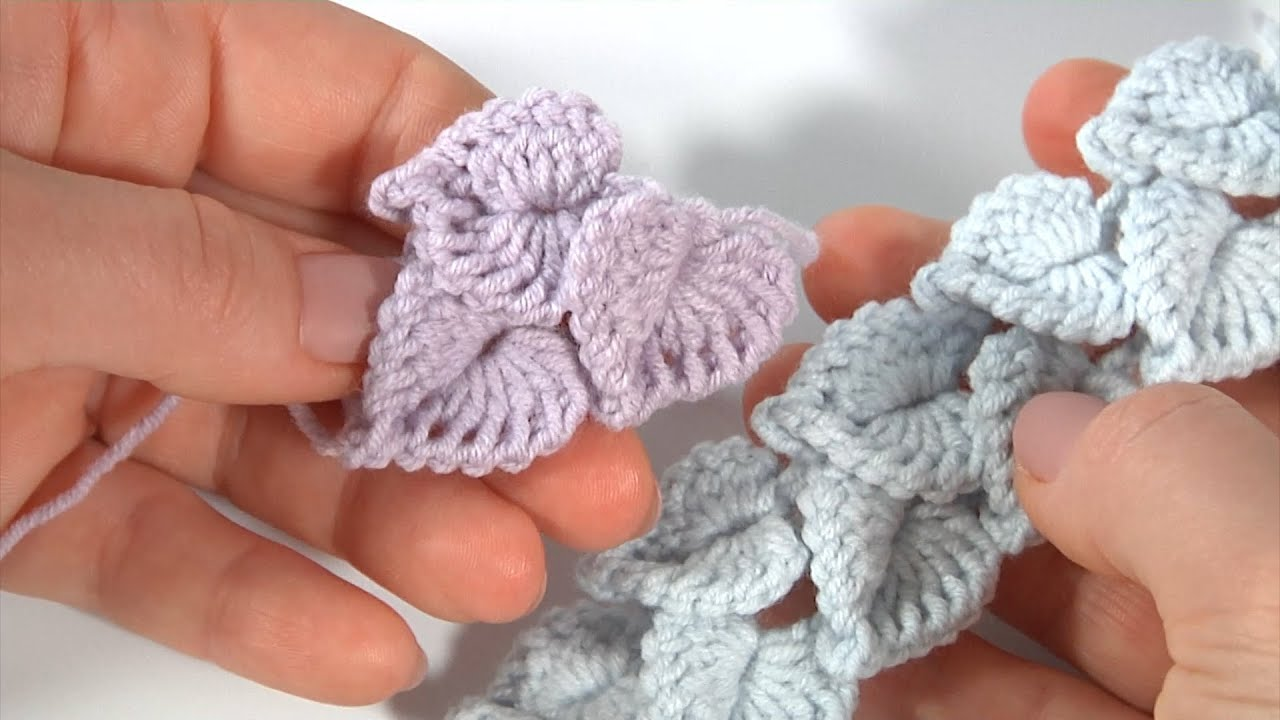Beautiful Crochet Leaf Pattern- Small Crochet Projects For Leftover Yarn