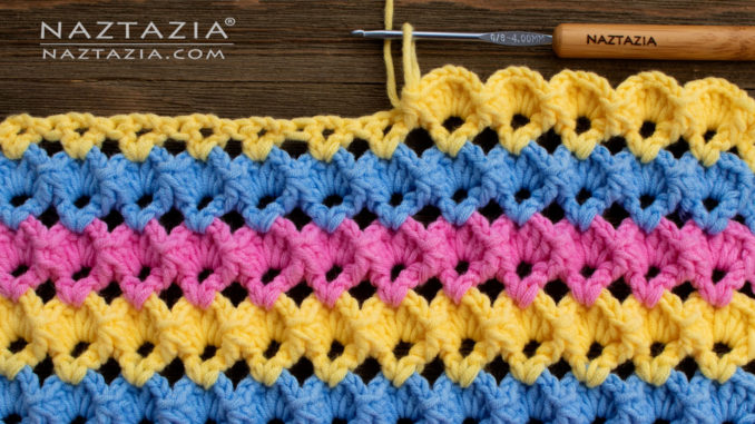 How to Crochet 3D Shell Stitch