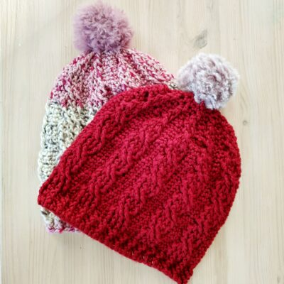 Easy Cable Crochet Hat Pattern