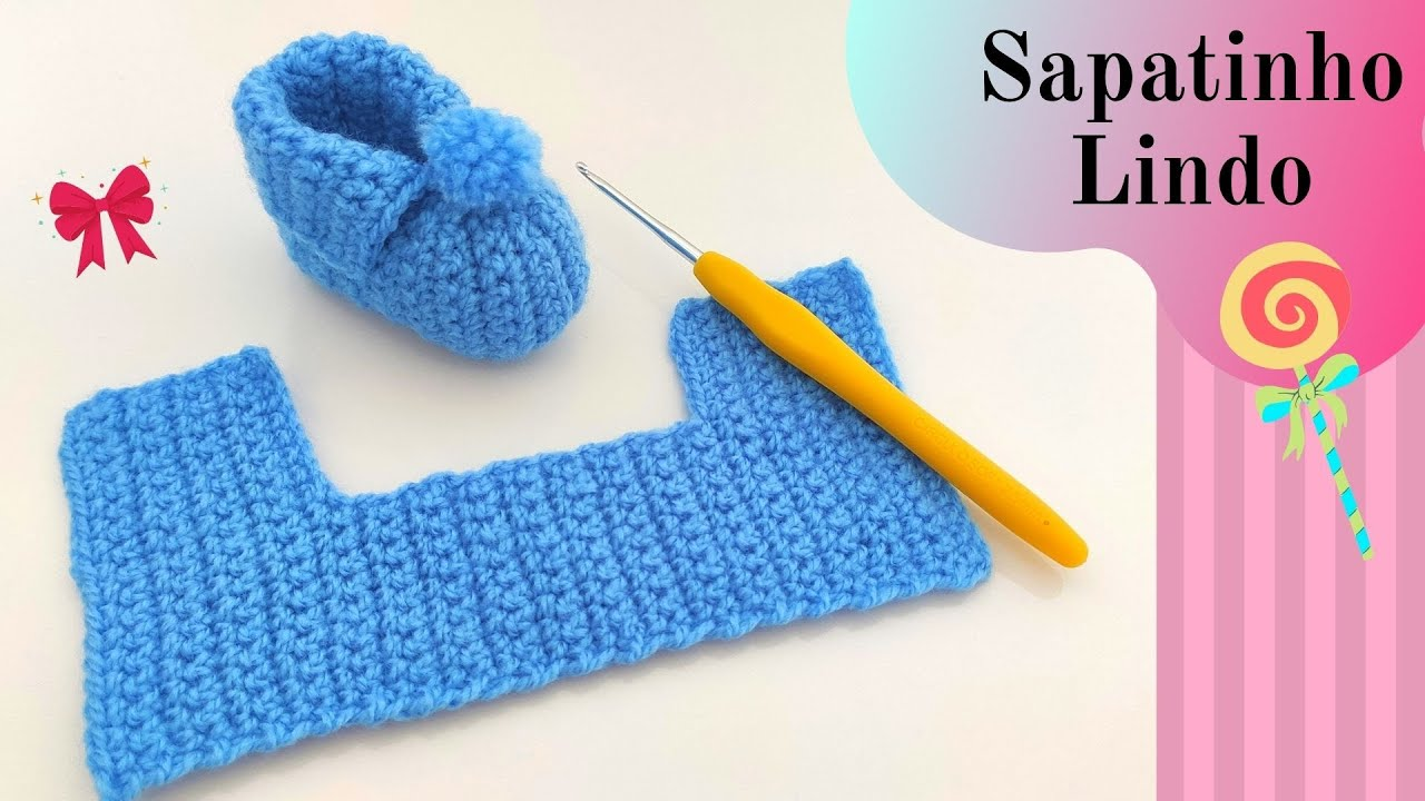 Easy One Piece Crochet Baby Booties Pattern For Beginners-30 Minute Crochet Projects