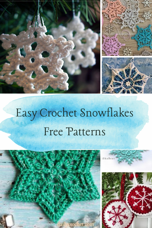 Easy Crochet Snowflakes Free Patterns