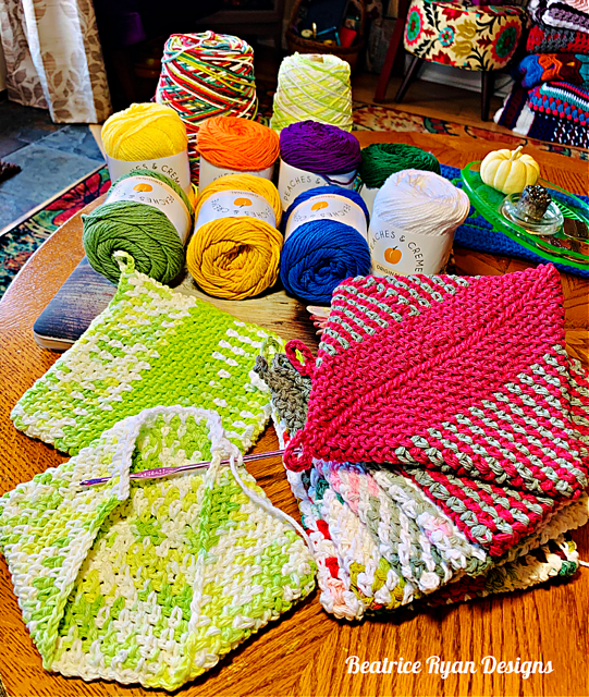 Crocheted Potholders Double Thickness Pattern
