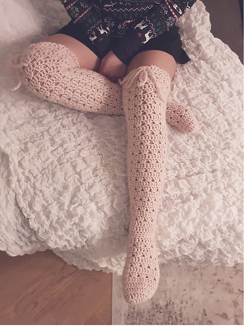Lacy Over The Knee Socks
