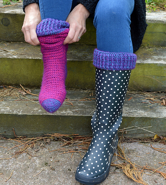 Crochet Knee-High Boot Socks Pattern