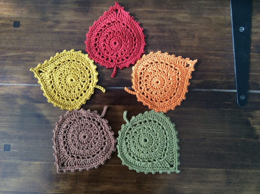 Leaf Coaster Crochet Pattern-Super Fast And Easy!